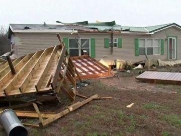 Destrozos del temporal en Oklahoma