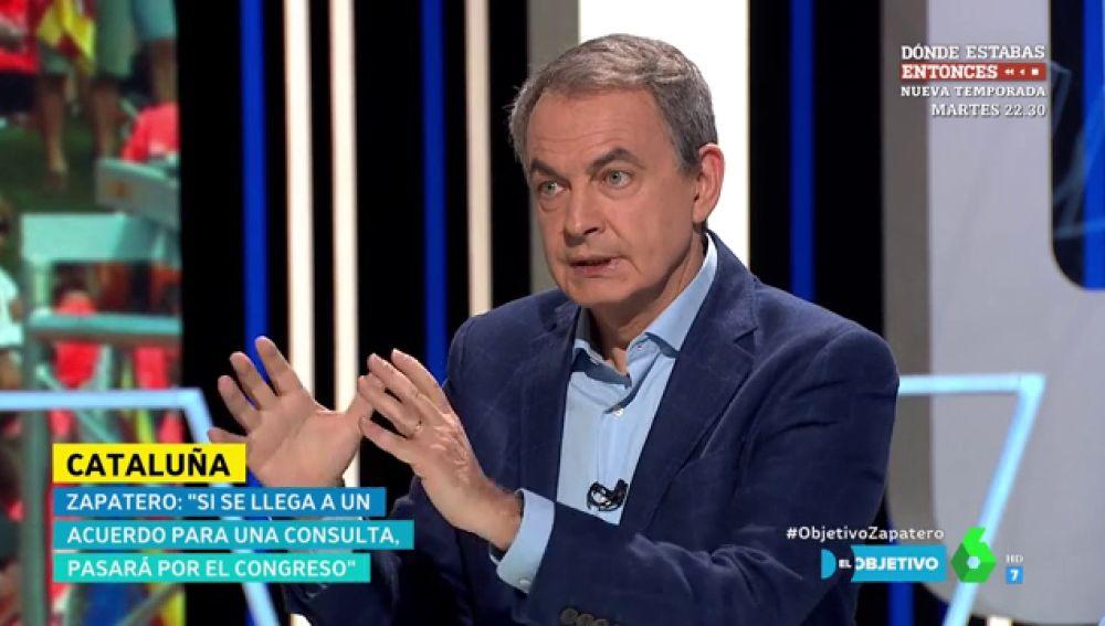 """José Luis Rodríguez Zapatero: """"La inmensa mayoría de los españoles están de acuerdo con que es mejor dialogar"""""""