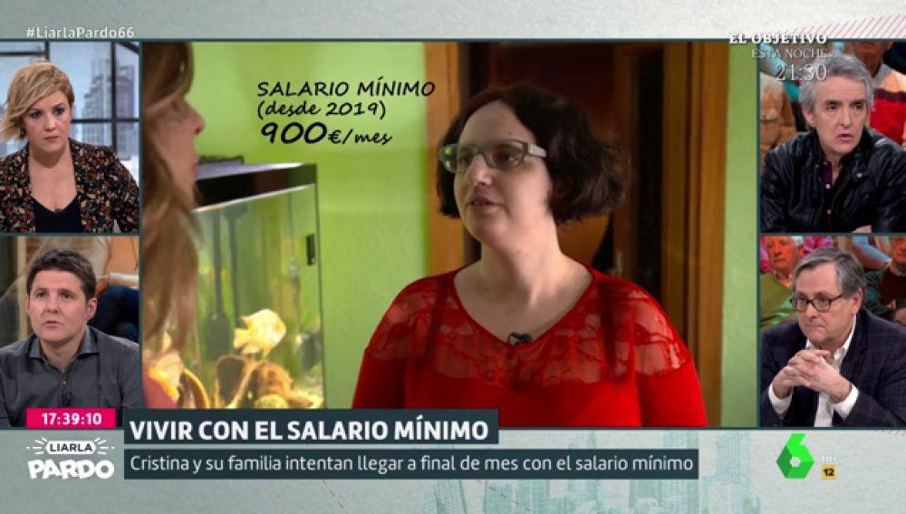 Las complicadas cuentas de una familia para llegar a fin de mes con el salario mínimo