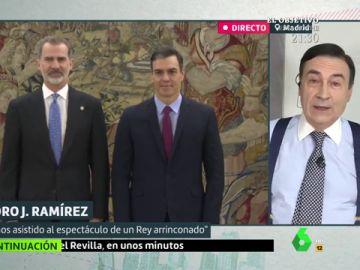 """Pedro J. Ramirez: """"Hemos existido al espectáculo de un rey arrinconado"""""""