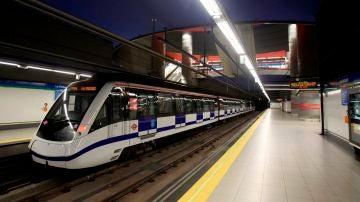 Imagen de archivo de un tren de Metro de Madrid