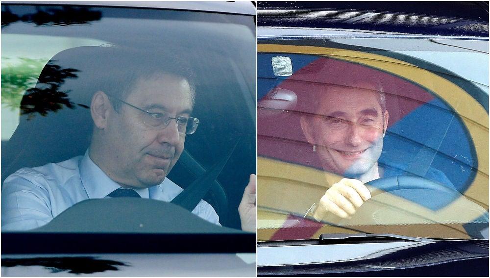 Bartomeu y Valverde salen de la ciudad deportiva del FC Barcelona