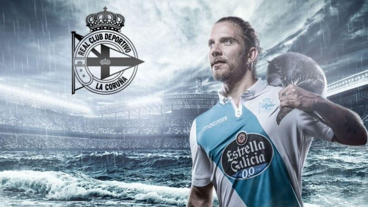 Diego Bello Lafuente, en un anuncio del Deportivo de la Coruña