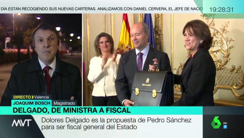 """Joaquim Bosh, sobre la propuesta de Dolores Delgado como fiscal general: """"No es positiva para la credibilidad institucional"""""""