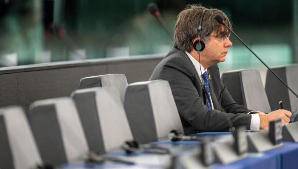El eurodiputado y expresidente catalán Carles Puigdemont