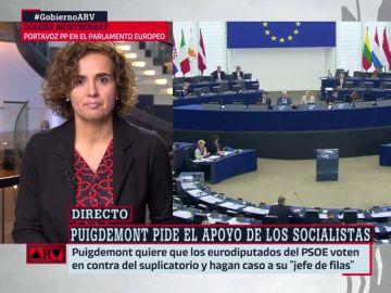 """Dolors Montserrat, sobre Puigdemont y Comín: """"Han sido recibidos con una máxima indiferencia. Están más solos que la una"""""""