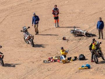 Accidente de Paulo Gonçalves en la séptima etapa del Dakar 2020