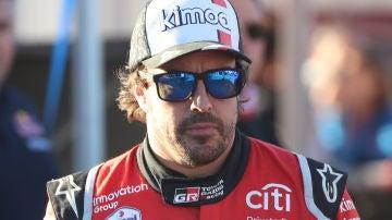 Fernando Alonso, durante el Dakar