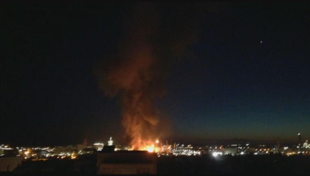 La explosión en la planta petroquímica de Tarragona