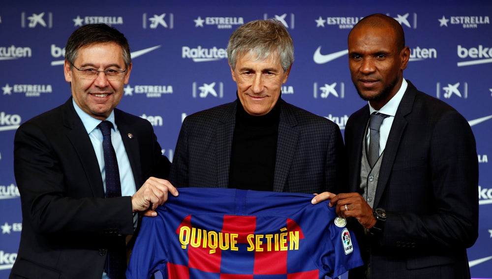 Quique Setién presentado como nuevo entrenador del Barça