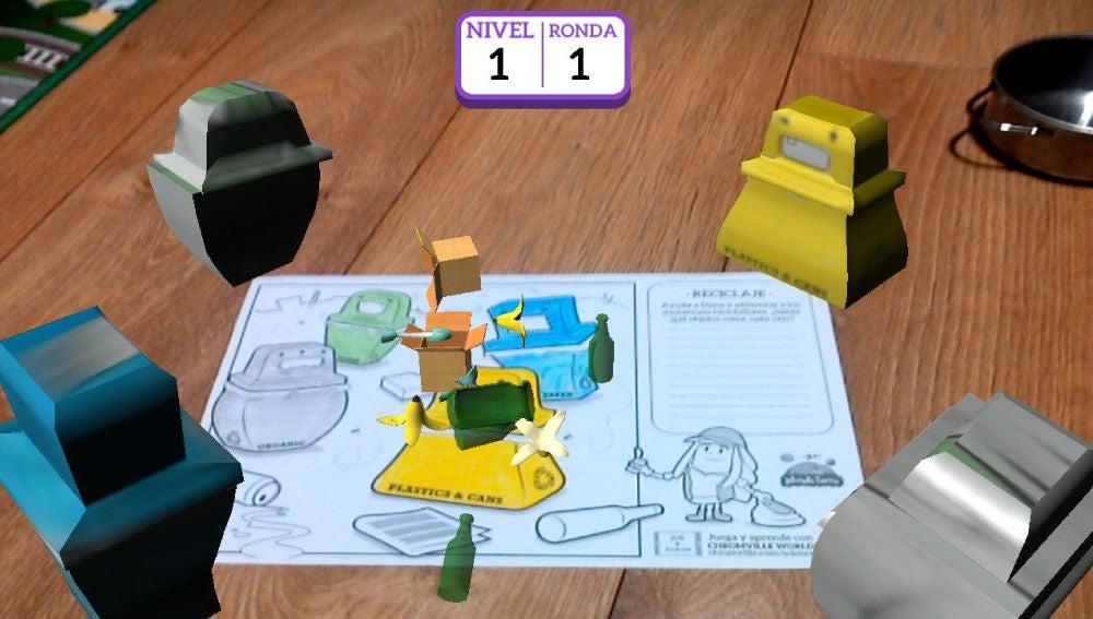 Ejercicio de realidad virtual sobre reciclaje