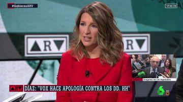 """Yolanda Díaz, ministra de Trabajo: """"Vamos a trabajar para que se respeten los derechos humanos en este país"""""""