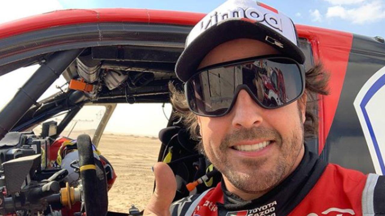 Mensaje optimista de Fernando Alonso tras su accidente en el Dakar