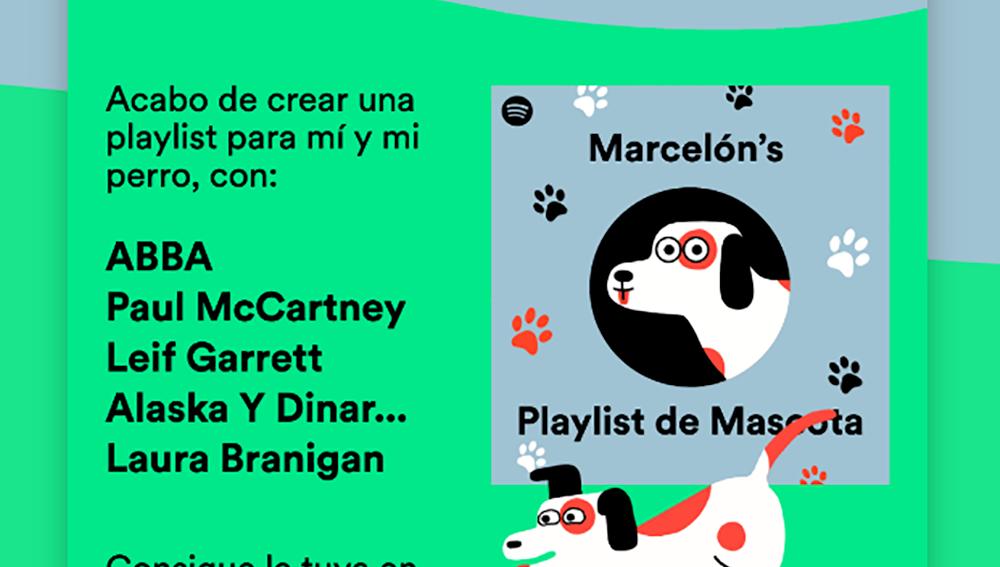 Playlist en Spotify para nuestro perro.