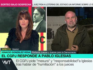 """Ignacio González Vega, sobre el comunicado del CGPJ a Iglesias: """"Me resulta sorprendente que ahora haga este tipo de declaraciones"""""""