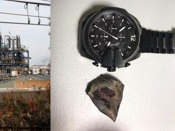 El trozo de metralla que se le incrustó en la cabeza en la explosión de Tarragona
