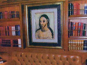 El cuadro 'Cabeza de mujer joven' de Pablo Picasso, a bordo del cuadro de Jaime Botín