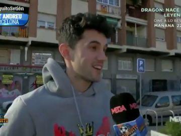 """Laro, hijo de Quique Setién: """"Siempre estábamos diciendo que cuándo jugaba el Barça, hablando de Messi..."""""""