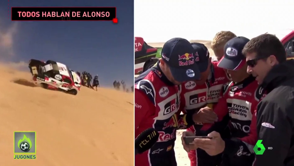 Los pilotos del Dakar alucinan con el accidente de Fernando Alonso en el Dakar