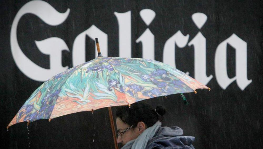 Un frente deja lluvias en toda Galicia.