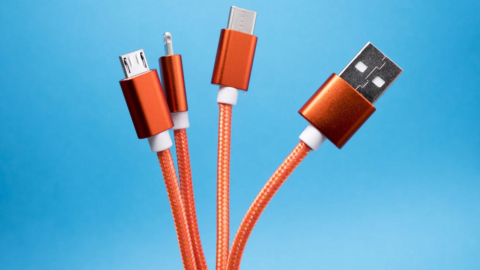 Estándar USB-C (3º izq.), el preferido de la Unión Europea.