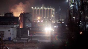 Explosión en la fábrica de la empresa Industrias Químicas del Óxido de Etileno