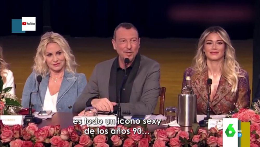 Las machistas palabras del presentador del Festival de San Remo indignan a Europa