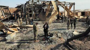 La base aérea iraquí de Al Asad tras el ataque de Irán como respuesta a la muerte del general Qasem Soleimani a manos de Estados Unidos