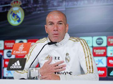Zinedine Zidane, en rueda de prensa.