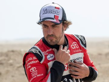 Fernando Alonso, tras finalizar la última etapa del Dakar.