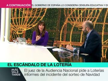 Mamen Mendizábal hablando del escándalo de la Lotería