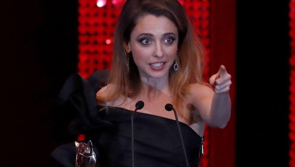 Leticia Dolera durante su discurso en los Premios Feroz 2020