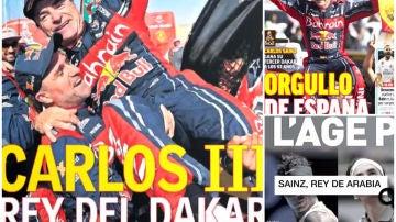 La prensa se rinde a Carlos Sainz
