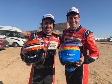 Fernando Alonso, junto a Marc Coma