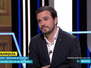 """Alberto Garzón: """"Seguiré diciendo 'ciudadano Felipe de Borbón'"""""""