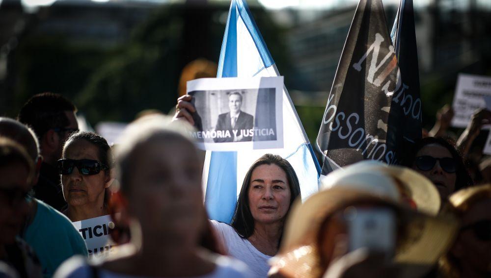 Imagen de la manifestación en Buenos Aires.