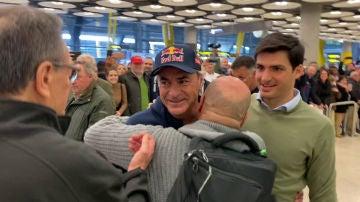 Carlos Sainz, a su llegada