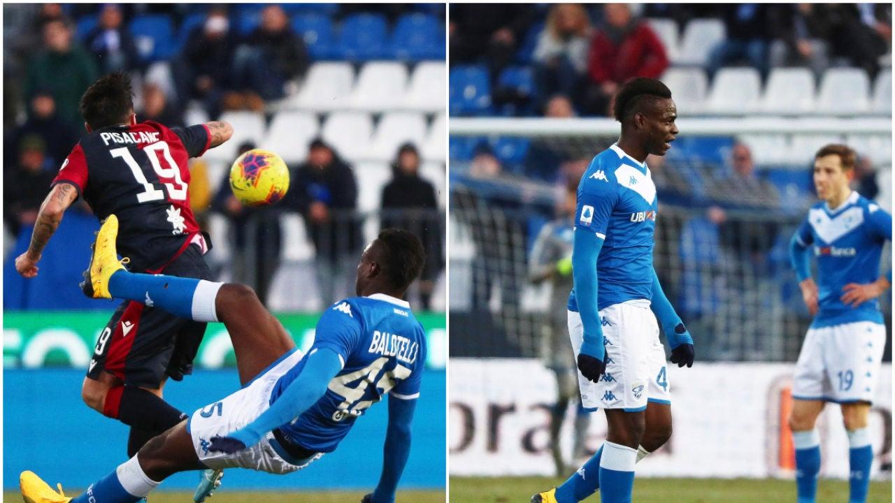 Balotelli, patada a un rival y expulsión