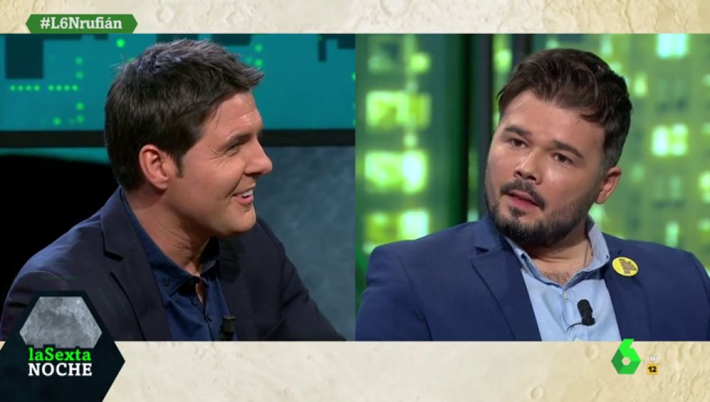 """""""Casado es 'Mini yo'"""": Rufián define en una palabra a Pablo Iglesias, Pedro Sánchez y Santiago Abascal"""