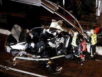 Imagen del trágico accidente en Estella
