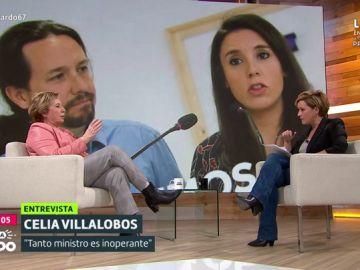 Celia Villalobos y Cristina Pardo