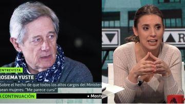 Josema Yuste e Irene Montero
