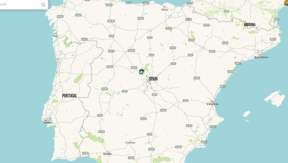 Mapa de las carreteras españolas