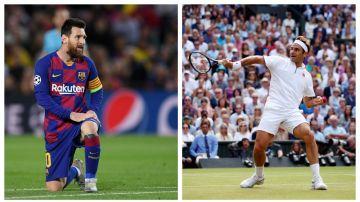 Lionel Messi y Roger Federer