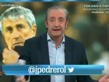 """Josep Pedrerol cuestiona el nuevo 'estilo Setién': """"Los pases son una milonga"""""""