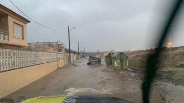 Una imagen de los estragos del temporal en Gandía,Valencia