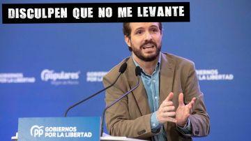 Pablo Casado en un acto del PP en Murcia