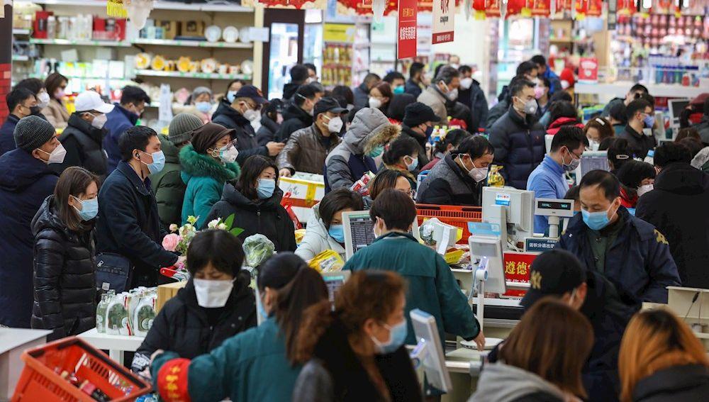 Imagen de un supermercado en China