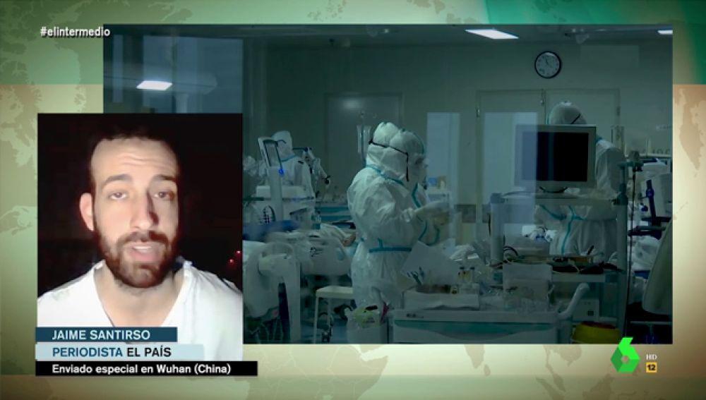 """Jaime Santirso, periodista en Wuhan: """"La situación es dramática, nadie sabe qué sucede dentro de los hospitales"""""""