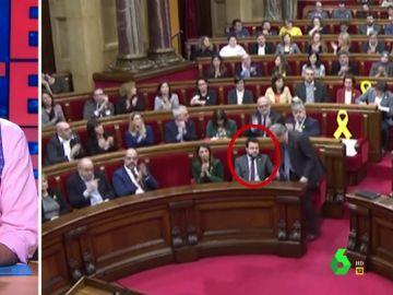 La polémica reacción de Pere Aragonès con Quim Torra